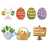 Piezas de huevos de Pascua Huevos colgantes de Pascua Adornos colgantes de Pascua Decoración de Pascua Huevos de Pascua multicolores Plástico colorido Plástico pintado Adornos colgantes de Pascua