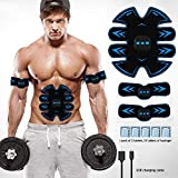 ZYFA EMS Elektrostimulation USB Wiederaufladbare Muskel Trainer Muskelverbesserung Abnehmen Und Formen Geeignet Für Arm Und Bauch Taille Und Bein Muskelübung 6 Modi 15 Intensitäten