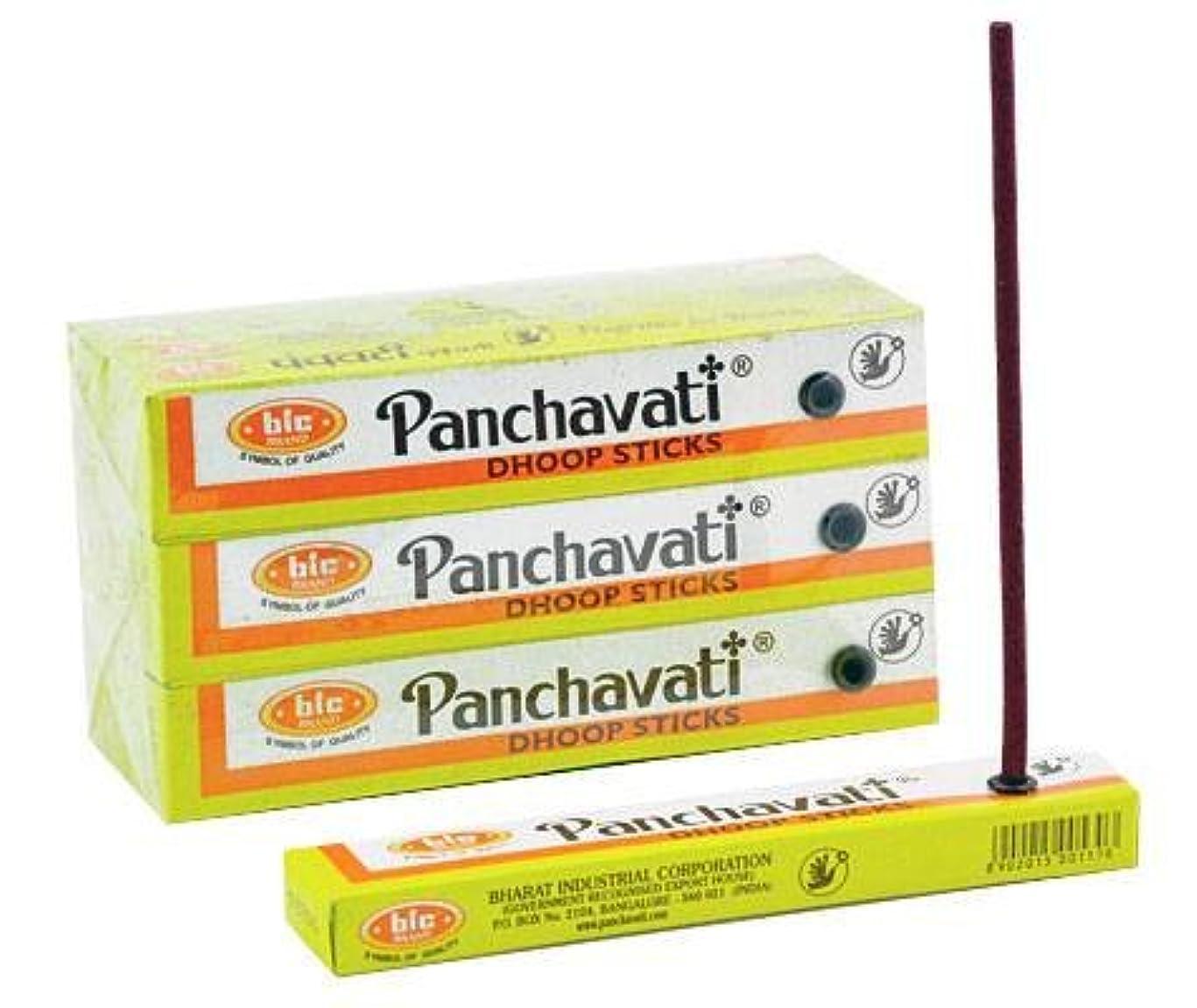 大陸ペインティング鉱石Panchavati Dhoopスティック12パック、12カウントin aボックス