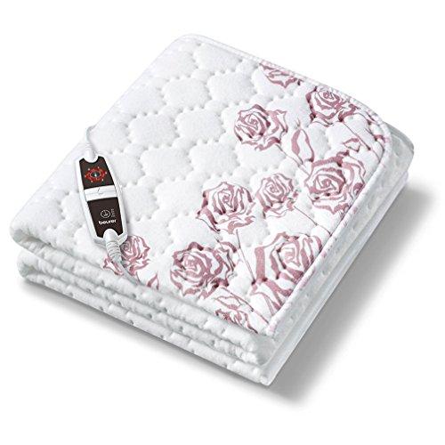 Beurer UB 75 Värmeundersäng, varm sängmatta med 6 temperaturnivåer och snabb uppvärmning, maskintvättbar värmefilt för sängen