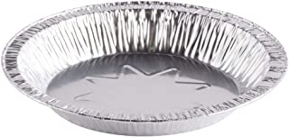 Aluminum Foil Baking Pie Pans – 8 inch Disposable Plates (45 Gauge) - Made in USA (Pack of 25)