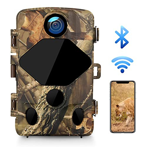 Trail Camera 24MP 4K WiFi,Hunting Game Camera with Bluetooth and...