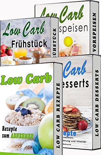 Low Carb BOX, Rezepte zum Abnehmen, 4 in 1 SET, zum Abnehmen, Low Carb Diät, Superfood, Matcha, Kokosöl & co. (Low Carb, Abnehmen, Superfood, Kokosöl, Matcha Tee, Honig, Quinoa)