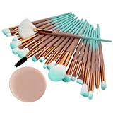 99native 20 Pcs/Set Maquillage Brush Set Makeup Brushes Kit Outils Maquillage Professionnel Maquillage Pinceaux Yeux Pinceau pour Les +1Pc Houppettes à Poudre (B)