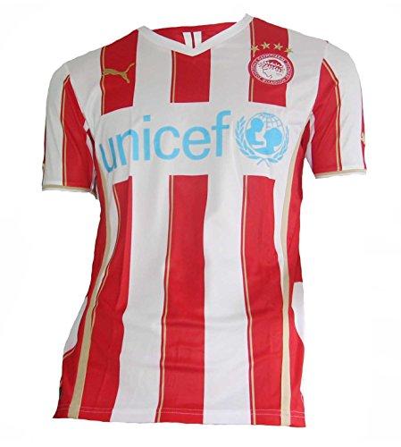 PUMA Herren Trikot Olympiacos Home Shirt Replica, puma red-White, S, 743662 01