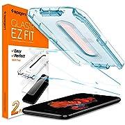 Spigen, 2Pack, iPhone 7 Plus / 8 Plus Screen Protector, EZ FIT, Glas.tR Slim, Installation Kit Included, 9H Tempered Glass, Case Friendly, Bubble-free, Anti-Scratch, Anti-fingerprint (055GL22383)