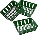 Connex Blumenzwiebel-Pflanzschale 24 x 21 cm - 3 Stück im praktischen Set - Zum Einpflanzen & Aufbewahren von Zwiebelpflanzen - Stabil & langlebig - Stapelbar / Anzuchtschale / Pflanzkorb / FLOR79160