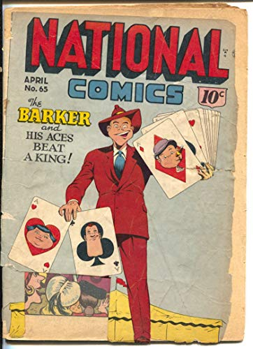 National Comics #65 1949-Quality-Quicksilver-The Barker-Sally O'Neil-cards on cover-P