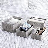 Aufbewahrungsboxen Biologisch Handarbeit aus Papier Pappe Körbe Umweltfreundlich für Accessoires Schminke 4er Set - 4