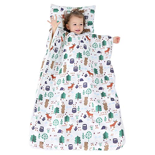 Almohadas Plegables Y Divertidos Sacos De Dormir,Saco De Dormir De Almohada Extraíble Preescolar Para Niños Cojín De Siesta De Otoño E Invierno 90X120Cm