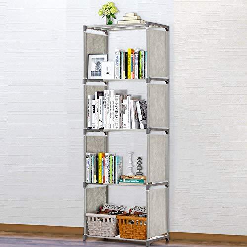 Estantería de 5/4 capas simple montada para guardar libros, estantería esquinera, estante organizador para niños (color: 5 capas)