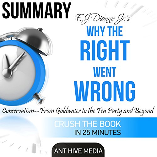 Summary of E.J. Dionne Jr's Why the Right Went Wrong: Conservatism from Goldwater to the Tea Party and Beyond audiobook cover art