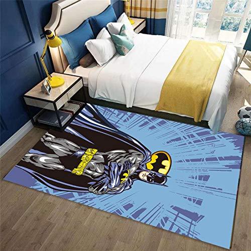 LGXINGLIyidian Alfombra Graffiti Creativo Spiderman Batman Alfombra Suave Antideslizante para Decoración del Hogar Impresa En 3D J-1451P 140X200Cm