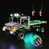 FYHCY Juego de Luces led de Control Remoto para Lego 42129 Technic 4x4 Mercedes-Benz Zetros Offroad Truck, Juego de Luces LED Compatible con Lego 42129 (Solo Juego de Luces) Remote Control