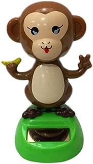 Iuhan Solar Powered Dancing Monkey Animal Swinging Animated Bobble Dancer Toy Car Decor (Multicolor)