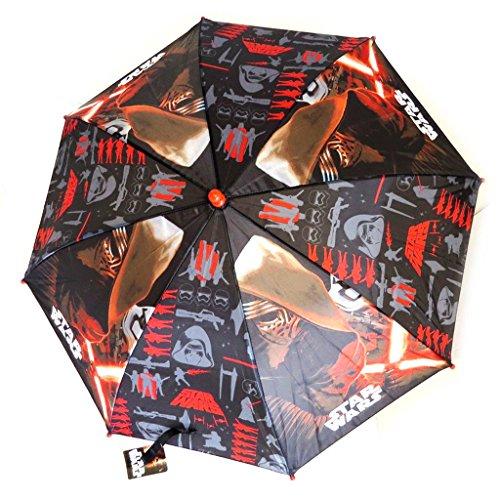 Niño paraguas \'Star Wars\'negro, rojo, rojo (46 cm - 84 cm de diámetro).