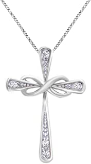 Best white gold infinity cross necklace Reviews