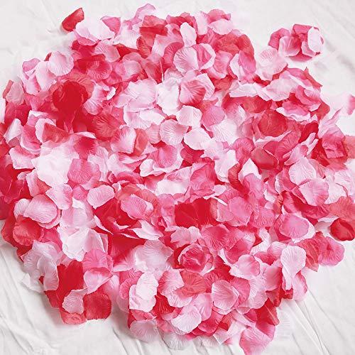 フラワーシャワー 造花 花びら 約1000枚 挙式 たっぷり ウェディング ローズレッド