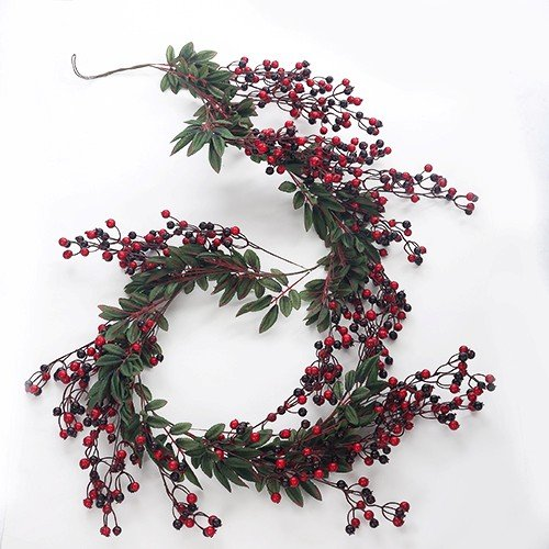 Artificial Red Berry Garland - Christmas, Harvest or Autumn Fake Garland