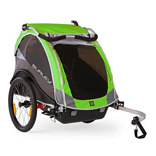 Kinderanhänger Burley CUB 2016 RennMaxe Set grün