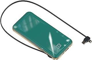 Levereras med en powerbank 20000mAh äkta digital displayspegelplätering 10000mAh mobil powerbank med full kapacitet,Green