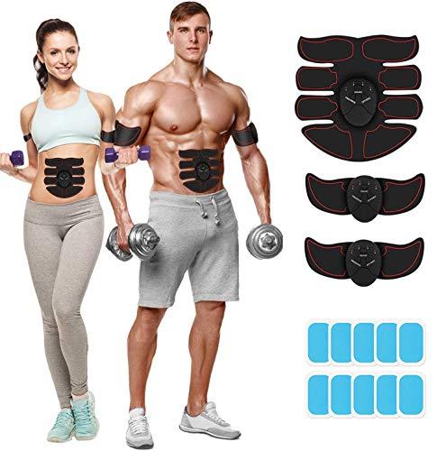 Insutam Abdominal Muscle Trainer for Men Women Abs Muscle Toner Abdomen Training Abdomen Slimming Bodybuilding for Abdomen/Arm/Leg Fitness Home Office Exercise (Red Edge)