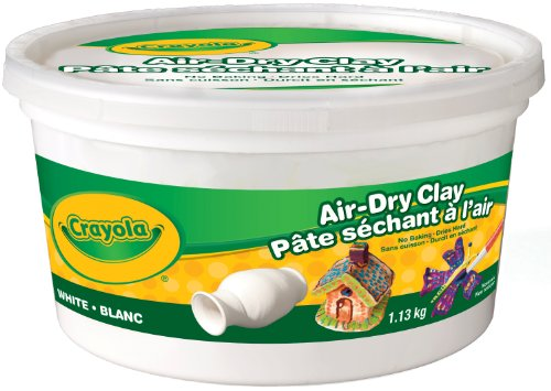 Crayola Air Dry Clay, 1.13 kg bucket, School and Craft Supplies, Teacher and Classroom Supplies, Gift for Boys and Girls, Kids, Ages 3,4, 5, 6 and Up