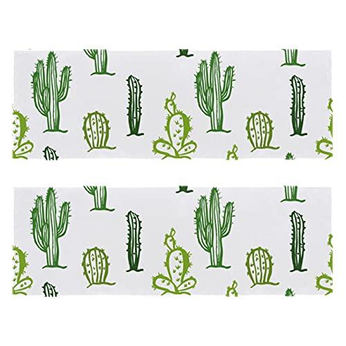 Al aire libre Microfibra Cactus Patrón Verde Plantas Pintura Camping Toalla de Secado Rápido Toalla de Viaje Ligero Toalla Deportiva para Viajes Camping Yoga Gimnasio Deportes