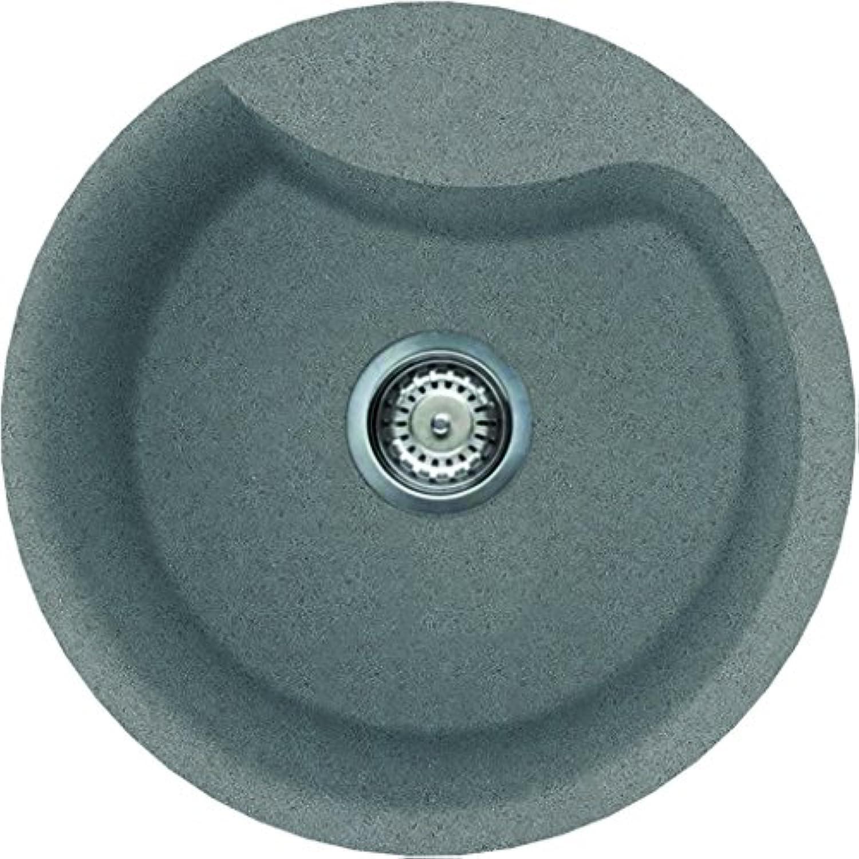 ELLECI Ego Round Metaltek–Kitchen Sinks (Metaltek, Titanium, 1Bowling, 40cm, 23cm, 8.89cm (3.5))