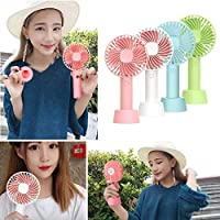 Yionloe New Portable USB Mini Mute Hand-held Fan