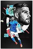 Tela De Lienzo 60 * 90cm Sin Marco Póster Lorenzo Insigne Huge Energy Art Diamond Shines Football Passion Summer Pursuit