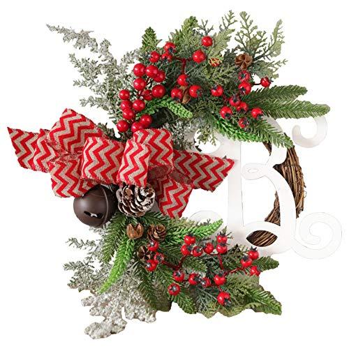 Class-Z kerstkrans, deurkrans, kerstdecoratie, deurkrans, Kerstmis, garland voor binnen en buiten, om op te hangen aan deuren, muren en trappen, bruiloftsdecoratie, 30cm