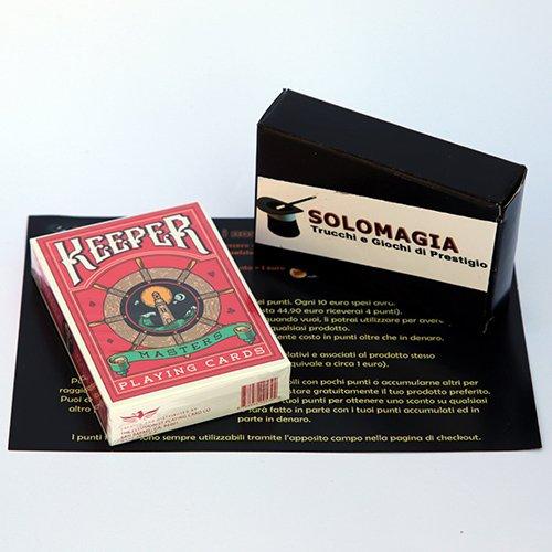 SOLOMAGIA Keeper Deck (Marked) - Red by Ellusionist - Kartenspiele - Zaubertricks und Magie