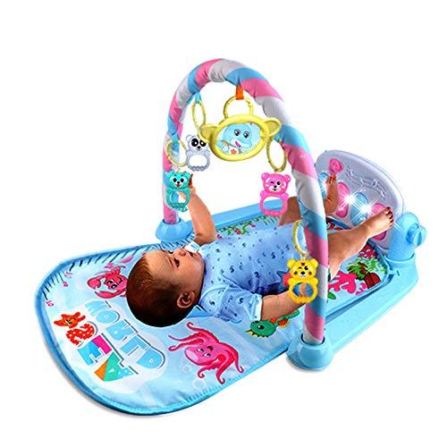 Erfula Musik Spieldecke Baby Piano Gym Baby Rainforest Erlebnisdecke Baby Krabbeldecke Mit Spielbogen Geeignet Für Babys Von 02 Jahren amazing