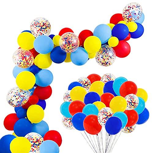 Palloncini in Lattice Azzurri,Speyang Balloon Arch Garland Kit,Palloncini Coriandoli Azzurri,Ballons Ghirlanda,Catene di Palloncini,80 Ballon Art Palloncini,per La Compleanno, Matrimonio