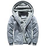 Writtian Wintermantel Herren Plüschjacke Wintermantel verdickt Wärmejacke Kapuzen Sweatshirt Sport und Fitness Coat