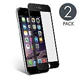 aiMaKE Protector de Pantalla Compatible con iPhone 6 /iPhone 6s , 3D Pantalla Completa Cristal Templado Pantalla protectora Anti Blu Ray,cubre la pantalla completa perfectamente para iPhone 6s Negro