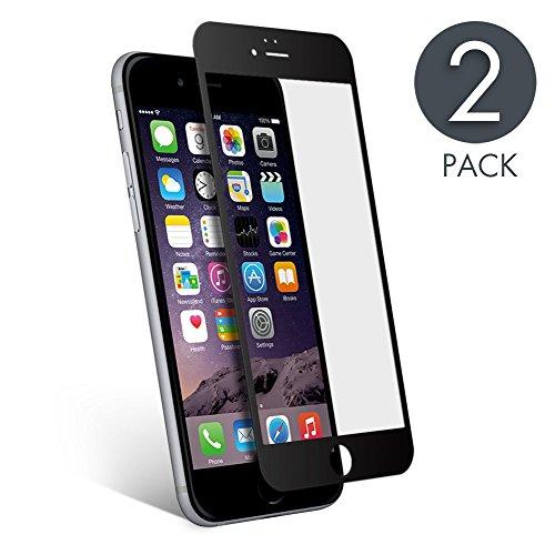 2Pack Pellicola Vetro Temperato Compatibile con iPhone 6 Protezione Dello Schermo aiMaKE Pellicola Protettiva Display Compatibile con iPhone 6S,Oleorepellente Ultra Sottile da Bordo a Bordo Nero