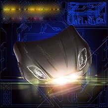ETbotu LED Headlamp Rechargeable Car Shape Helmet Light for Camping Running Hiking Reading
