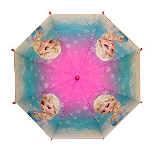 Reine des Neiges Elsa parapluie transparent automatique 70 cm Pluie Fille Classique