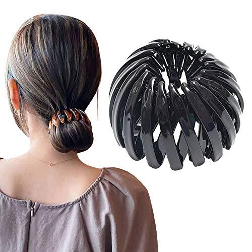 Dwevkeful Haarbänder Damen Pferdeschwanz-Halter,Vogelnest Haarband Haargummis, erweiterbar, Haarkralle, Haar-Accessoire Kopfschmuck Haarreife Stirnbänder Haarspangen Clips für Frauen