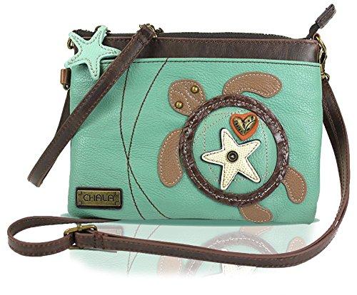 Teal Sea Turtle Mini-Handbag