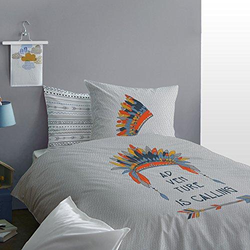 MATT & ROSE Parure de lit Enfant - imprimé Fantaisie - 100% Coton 140x200