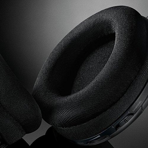 Philips SHC5200/10 Casque TV Sans Fil, Casque HiFi (Supra-auriculaire, Haut-parleur 32 mm, Transmission FM Sans Fil, Conception Ultralégère et Confortable, Entièrement Rechargeable) Noir