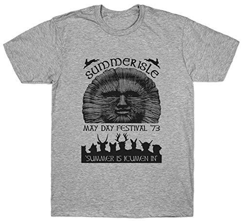 Gnn Summerisle Festival T Shirt May Day 73 The Wickerman Premium Cotton Grey