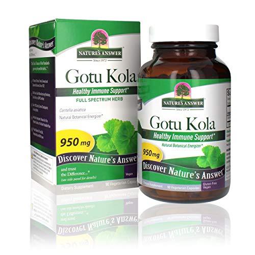 NATURE'S ANSWER - Gotu Kola Herb 950 mg - 90 Capsules
