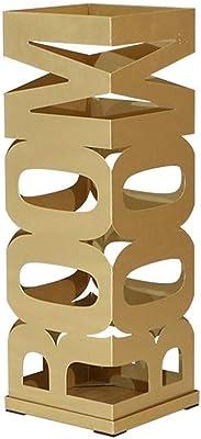 CRRQQ 防錆のシンプルなスタンド傘収納ボックスフレームの床に立っクリエイティブホテルロビーホームオフィスデュアルユースを20 * 20 * 60センチメートルラック (Color : Gold)