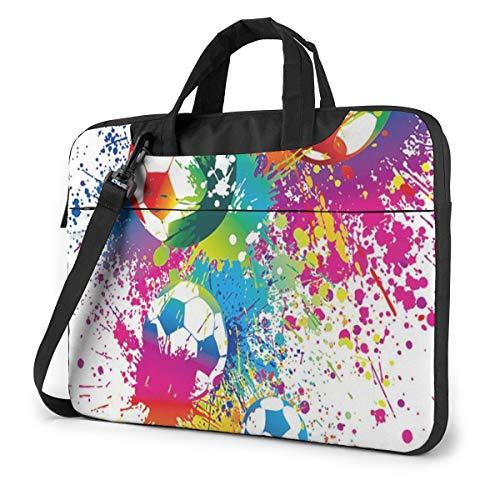 Splatters Rainbow Soccer Computer Bag Durable Laptop Briefcase Shoulder Messenger Bag for Computer Notebook 13 in