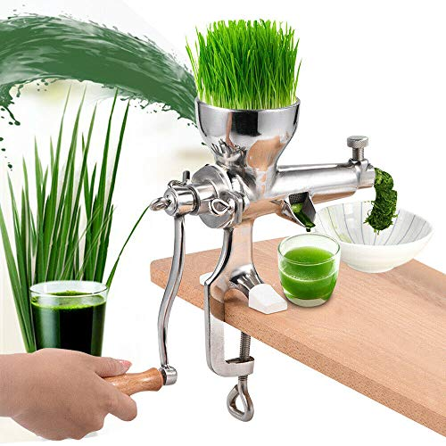 Wheatgrass Entsafter, Edelstahl DIY Superb Juice Extraction Home manuelle Saftpresse zum Entsaften von Weizengras, Grünkohl, Spinat, Petersilie, Granatapfel