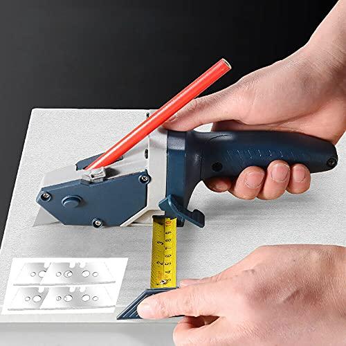 Herramienta de corte manual para cartón de yeso, herramienta de corte rápido portátil para paneles de yeso, herramienta de construcción en seco, precisión con escala, sacapuntas